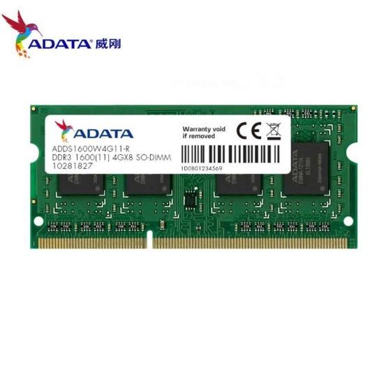 ADATA 4GB DDR3 1600 Bus Laptop Ram