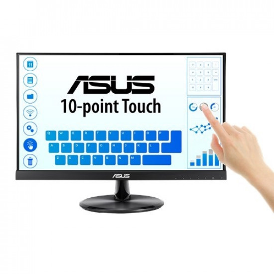 ASUS 21.5 Inch VT229H Full HD 5ms Low Blue Light Flicker Free Touch Monitor