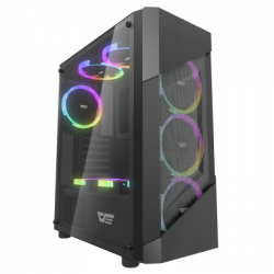 DarkFlash Pollux PC Gaming Case 3 RGB Fan with Remote Control
