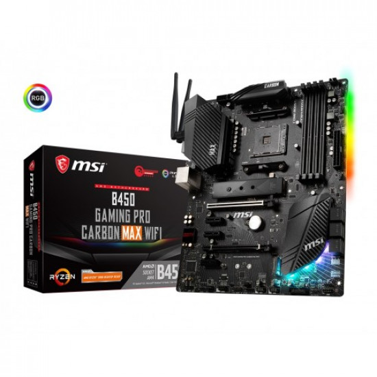 MSI B450 Gaming Pro Carbon MAX Wifi ATX Motherboard
