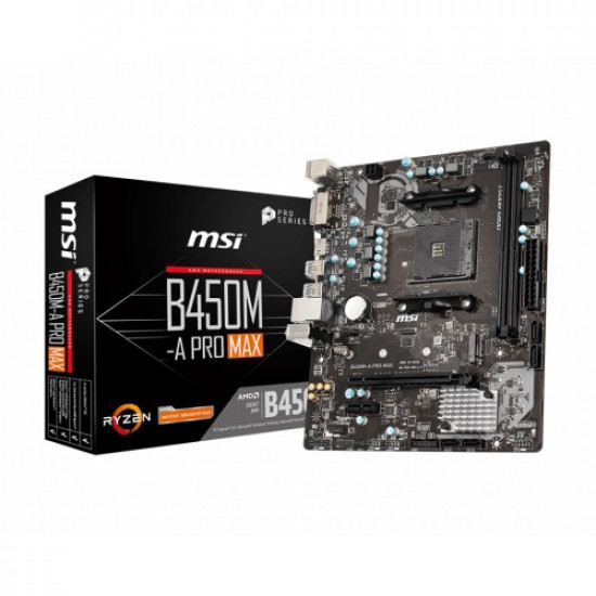 MSI B450M-A PRO MAX AMD AM4 Motherboard