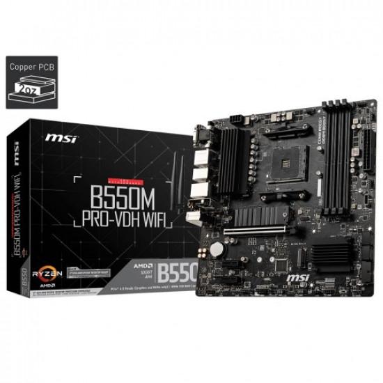 MSI B550M Pro VDH Wi-Fi AM4 AMD Micro-ATX Motherboard